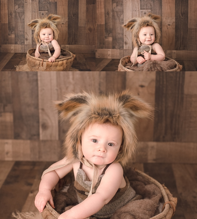 Baby boy photo session, children's photography, baby pictures near me, Fox hat baby boy, cornwall NY family photographer